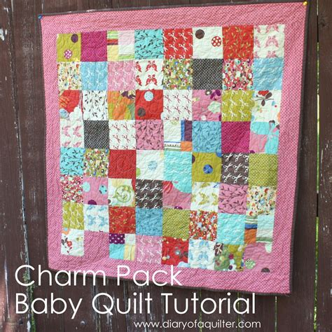 Charm Pack Quilt Patterns For Baby Quilts by Charm Pack Baby Quilt Tutorial Diary Of A Quilter A