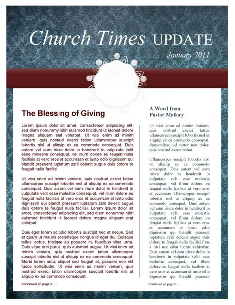 colors church newsletter template template newsletter