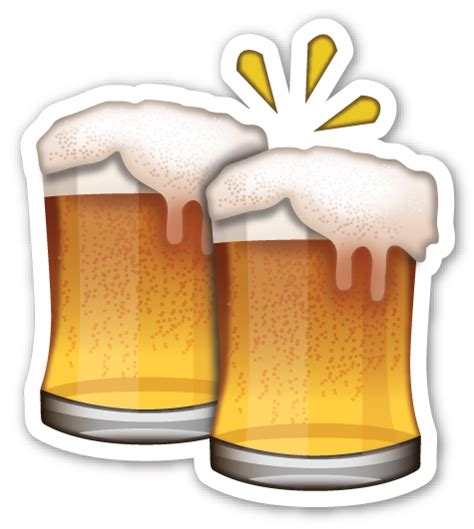 clinking glasses emoji clinking beer mugs