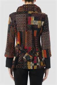 Patchwork Coats - joseph ribkoff patchwork jacket blouse from columbia by