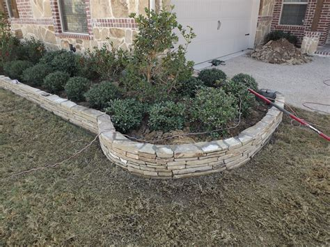 flower bed edging stone stacked stone flowerbed edging trophy club tx 2012 2
