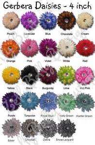 gerbera colors gerbera color chart wedding flowers