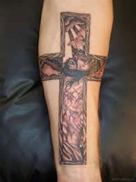cross tattoos with jesus inside cross 70 looking cross tattoos for arm