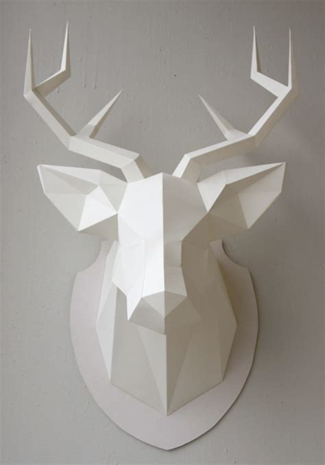 Papercraft Deer - paper my dear deer paper sculpture ams design