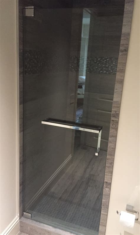 Shower Door Towel Bar Brilliant The Glass Shoppe A Shower Door Bar