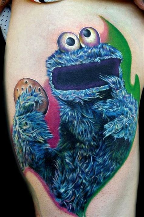 art monster tattoo cookie sesame muppet muppets tv television
