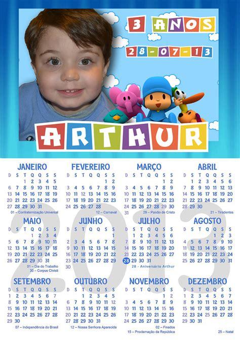 Calendario Personalizado Calend 193 Personalizado Pocoyo Imperial Festas Elo7
