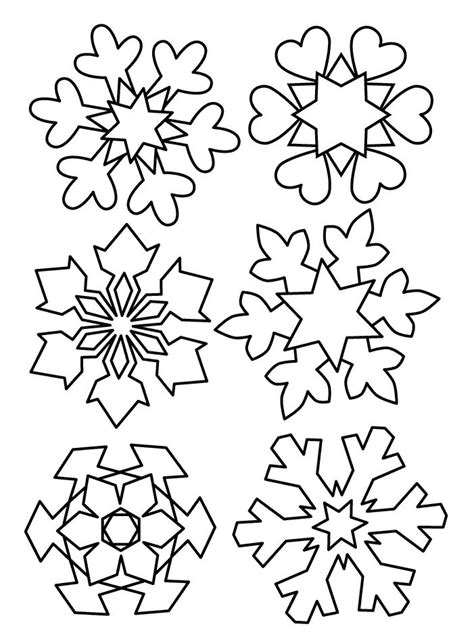 snowflake pattern to trace snow flake pattern winter coloring pages pinterest