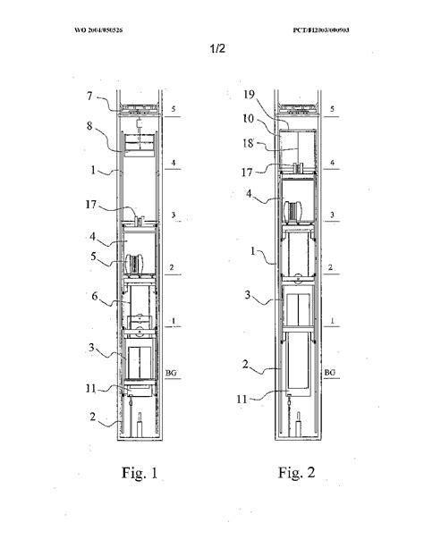elevator shaft section elevator shaft drawing