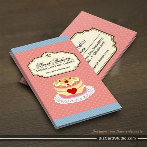 cake business cards templates free custom cakes and cookies dessert bakery store business card template bakery business cards