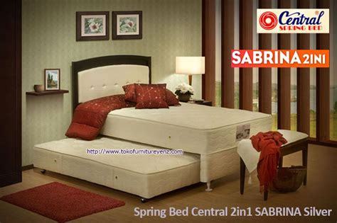 Springbed 2in1 Murah Charmy 100x200 bed central 2in1 sabrina silver termurah