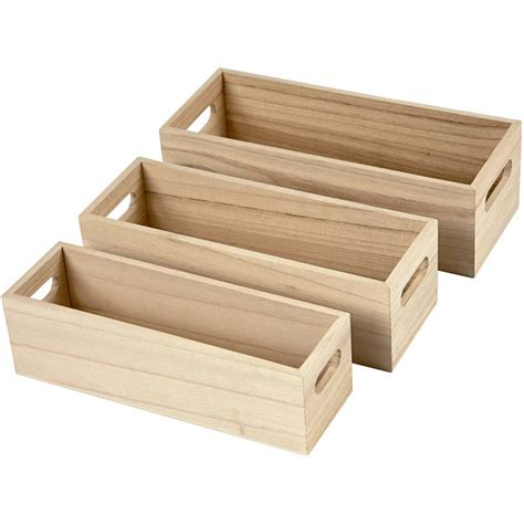 Small Storge Box set of 3 open top small storage display box set