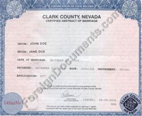 Marriage Records Reno Nv Clark County Wedding License Mini Bridal