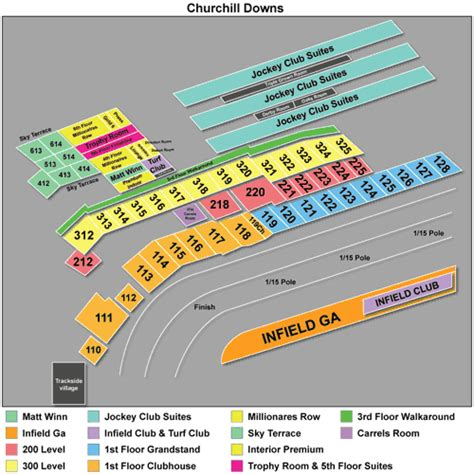 churchill downs seating views the 25 best ideas about churchill downs seating chart on