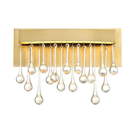 Gold Bathroom Vanity Lights Designers Lucienne Luxor Gold Interior Led Bath Vanity Light Led88100 Lxg The Home Depot