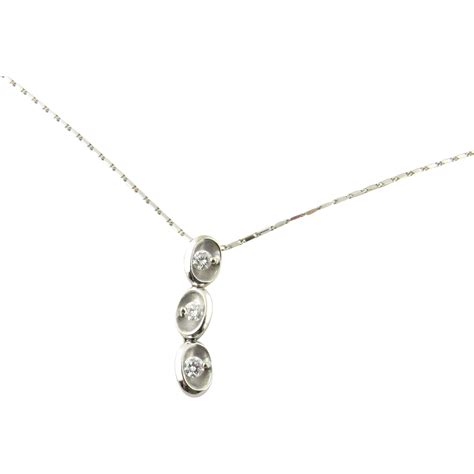 Drop Necklace vintage 18 karat white gold drop necklace from