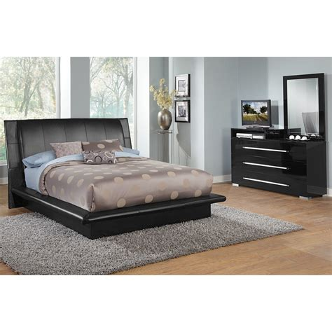 bedroom furniture dimora black 5 pc bedroom value city furniture