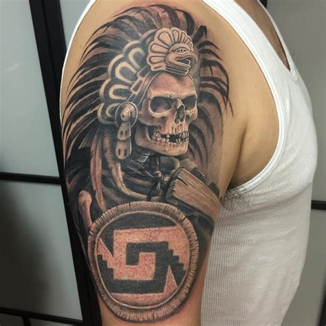 28 Ornamental Aztec Tattoo Designs Ideas Design Trends Mexican Aztec Tattoos Designs