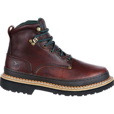 mens leather work boots boot s 6 quot brown leather work boot g6274