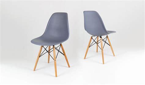 chaise eames grise chaise eames gris ardoise en bois inspire du style eiffel