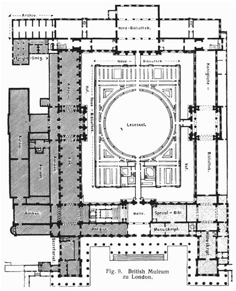 floor plan of museum british museum london ground plan 19세기 영국 역사주의