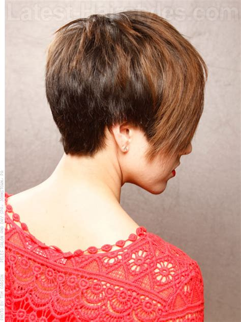 haircut back coming to point straight to the point short edgy cut side view i love