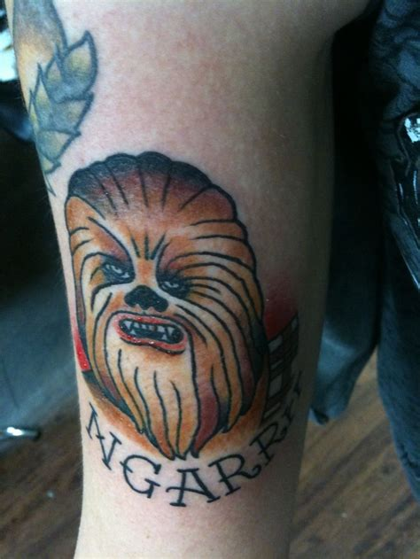 chewbacca tattoo by kyle holt at allegiance ink tattoo