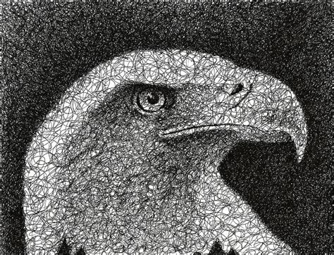 Home Decor Painting by Scribble Eagle Drawing By Nathan Shegrud