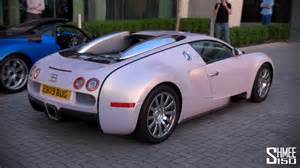 Bugatti Veyron Pink Pink Bugatti Veyron Arrival Convoy And Drag Races