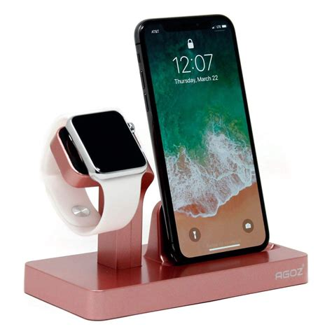 gold charging dock stand station charger holder for apple iwatch series 4 3 2 1