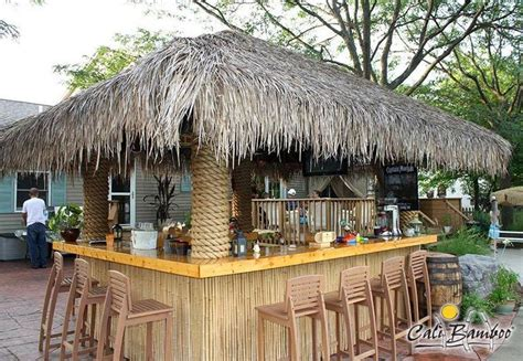 Tiki Bar Thatch Roof Diy Tiki Bar Made With Cali Bamboo Fencing And Palm