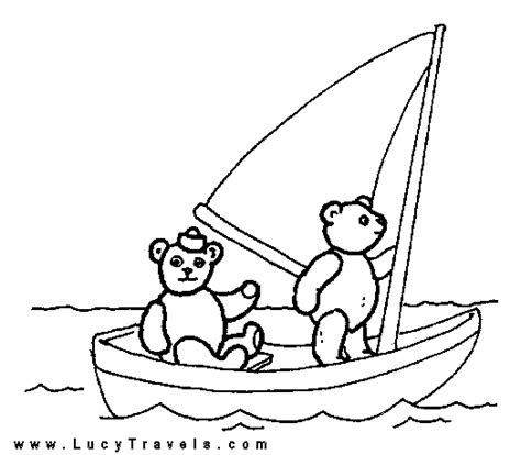 speed boat colouring pages for kids download free