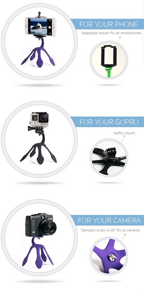 Mini Tripod Stand For Smartphone Gopro And Xiaomi Yi mini tripod mount portable stand holder for