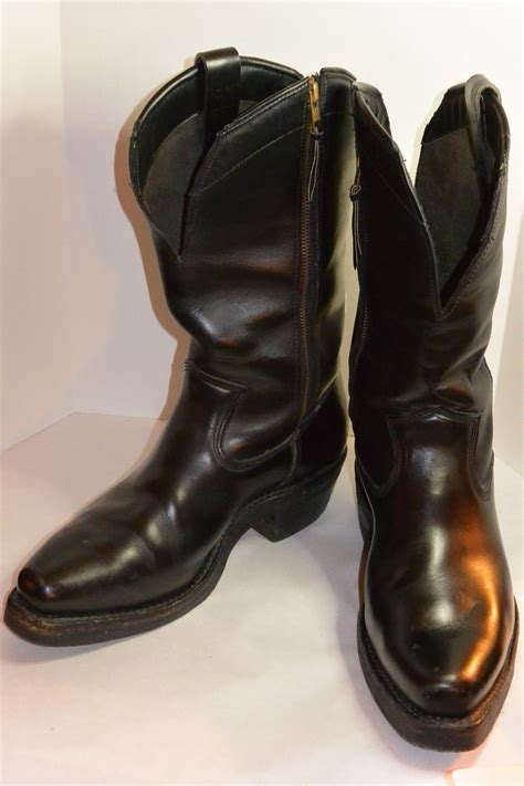 mens black leather motorcycle boots vintage leather motorcycle boots vintage apparel