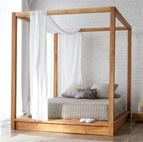 Contemporary Canopy Bed Contemporary Canopy Bed In Solid Wood By Mashstudios
