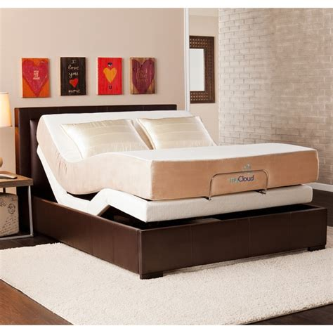 mycloud adjustable bed size with 10 inch gel infused memory foam mattress 15825185