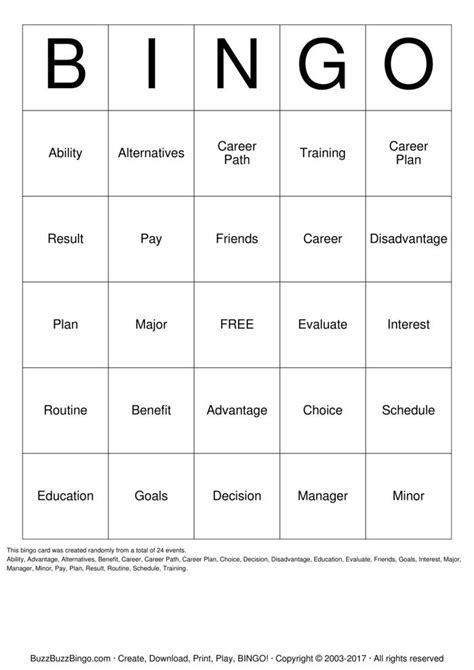 how to make a bingo card decision bingo cards to print and customize