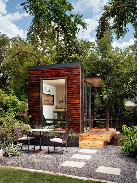 tiny home for backyard tiny backyard home office with deck and table 2015 fresh