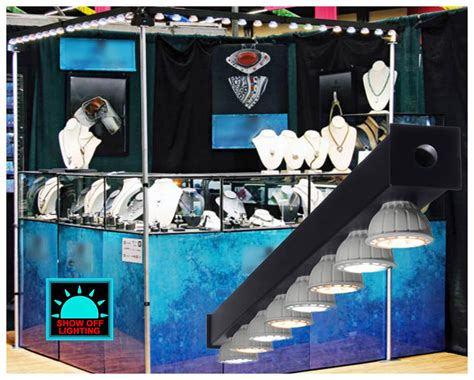 led lights for trade booths convention expo booth lighting portable led display light