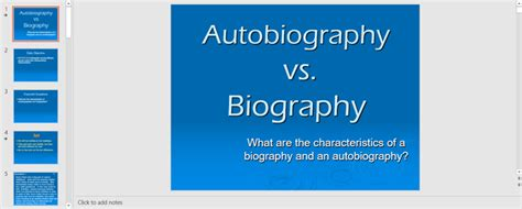 biography and autobiography powerpoint autobiography outline template 23 exles and formats