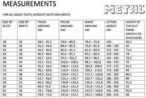 Bench Press Size Chart Metal Pro King Deadlift Suit Gometal Com