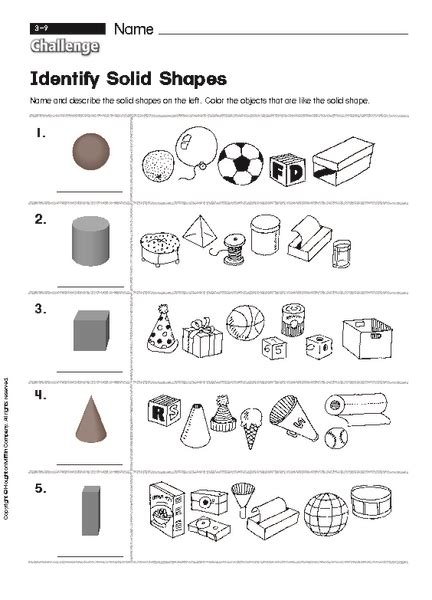 Solid Shapes Worksheets by Solid Shapes Worksheets For Grade 3 3d Shapes Geometry