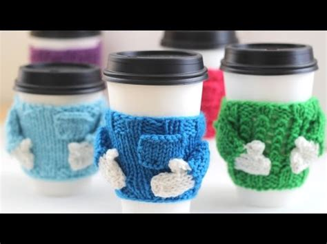 christmas knitted cozy how to knit coffee cozy sweaters for the holidays