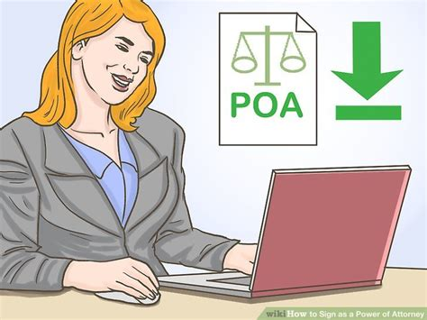 How To Sign A Document As Durable Power Of Attorney how to sign as a power of attorney 11 steps with pictures