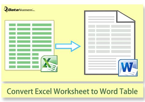 convert word table to excel how to convert excel worksheet to word table via