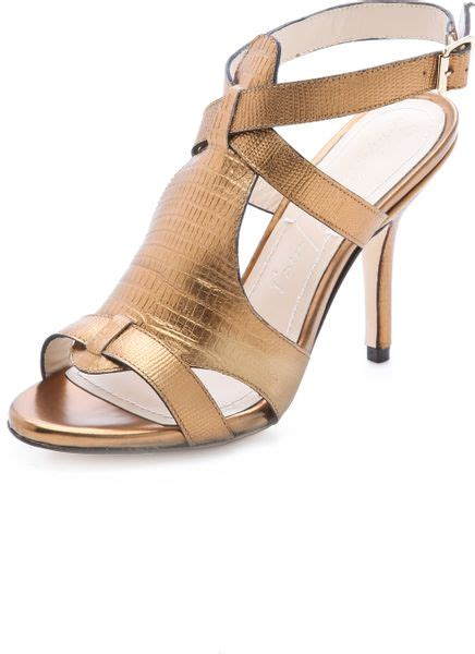 copper shoes high heels elizabeth and high heel sandals in gold