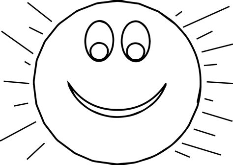 sun coloring page sun smiley coloring page wecoloringpage