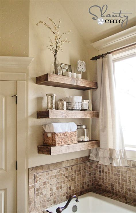 floating shelves in bathroom easy diy floating shelves shanty 2 chic