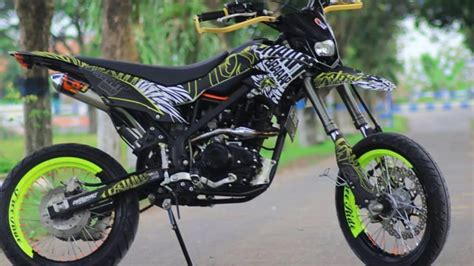Klx Supermoto by Modifikasi Kawasaki Klx Bergaya Supermoto Part 2
