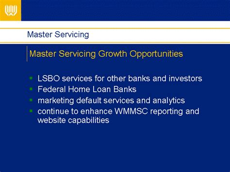 masterservicing master servicing growth opportunities x